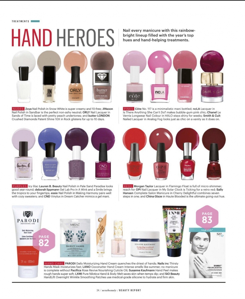 New Beauty Fall 2018 Hand Heroes